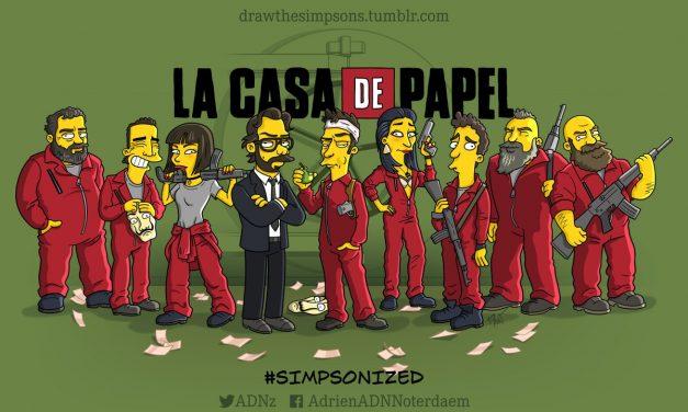 Así se verían éstos personajes Simpsonizados!