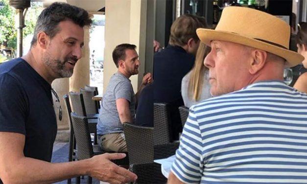 Un argentino se cruzó con una estrella de Hollywood!