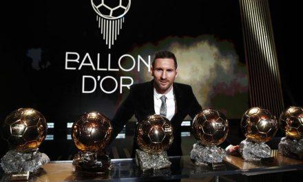Messi recibe su sexto Balón de Oro!