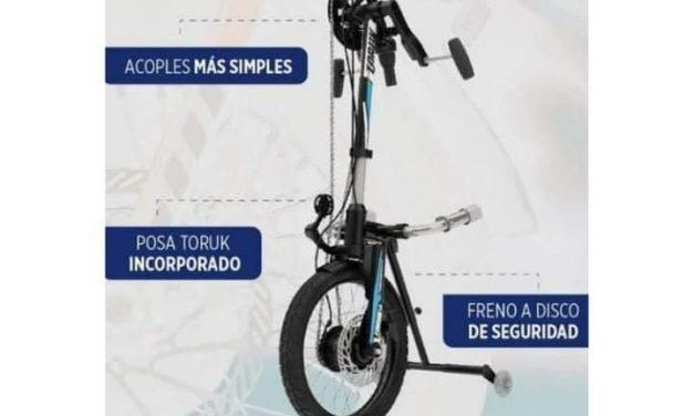 Por la bici adaptada para robin gutierrez